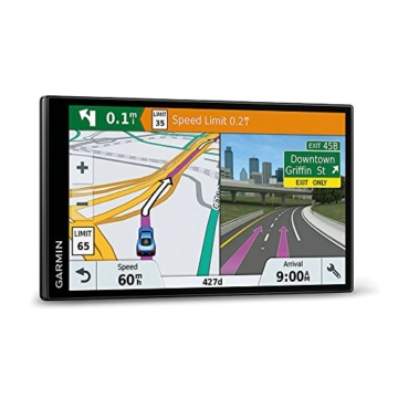 Garmin DriveSmart 61 LMT-D EU Navigationsgerät  (17,65 cm (6,95 Zoll) rahmenloses Touchdisplay, Europa (Traffic via DAB+ oder Smartphone Link)  lebenslang Kartenupdates & Verkehrsinfos, Smart Notifications) -