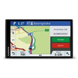 Garmin DriveSmart 61 LMT-D EU Navigationsgerät  (17,65 cm (6,95 Zoll) rahmenloses Touchdisplay, Europa (Traffic via DAB+ oder Smartphone Link)  lebenslang Kartenupdates & Verkehrsinfos, Smart Notifications) -