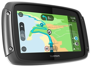TomTom Rider 42 Navigationsgerät (Cleveres Display, Karten-Updates, Regional 19 Länder, Traffic-Update, Radarkameras-3 Monate, Freisprechen) schwarz -
